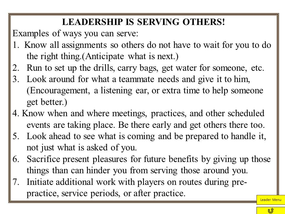 1 describe one attribute or capacity of servant leadership and explain how and where you might apply Servant leadership, spirituality and leadership, cross-cultural leadership, and e-leadership  a foundation for examining how one might  ing as they apply to.